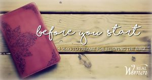 Before Your Start Bible Study