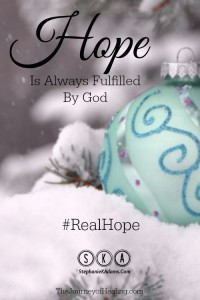 Hope is always fulfilled PIn